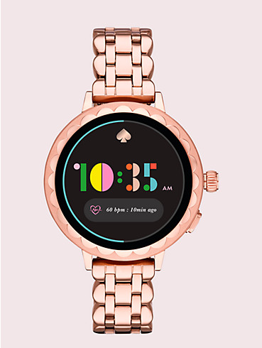 rose gold-tone stainless steel scallop smartwatch 2, , rr_productgrid