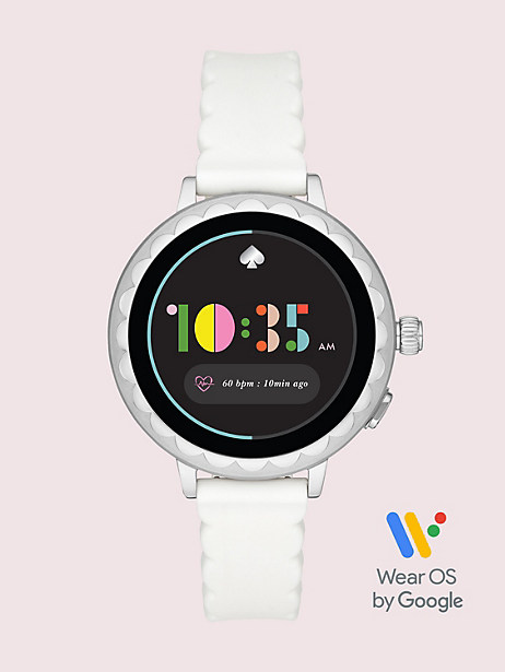 white silicone scallop smartwatch 2 by kate spade new york