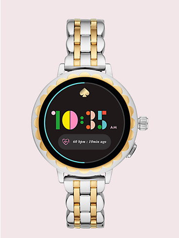 two-tone stainless steel scallop smartwatch 2, , rr_productgrid