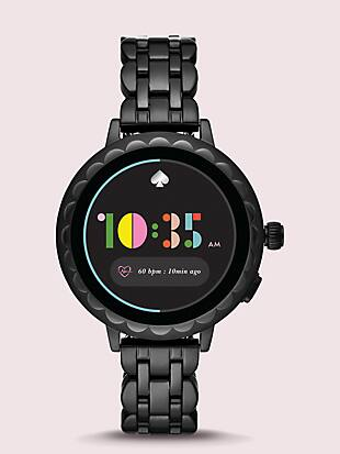 black stainless steel scallop smartwatch 2 by kate spade new york non-hover view
