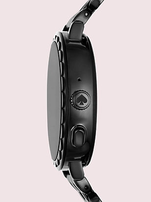 black stainless steel scallop smartwatch 2 by kate spade new york hover view