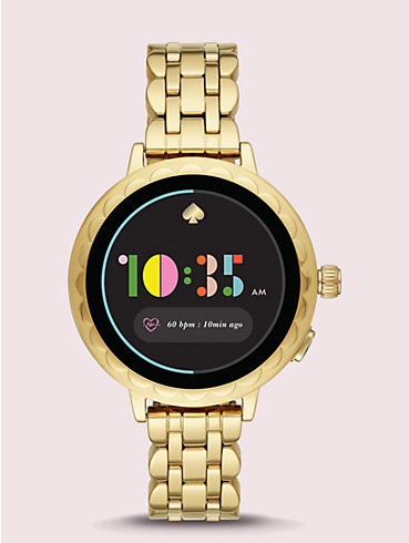 gold-tone stainless steel scallop smartwatch 2, , rr_productgrid