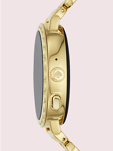 Smartwatch 2 mit Wellenrand aus goldfarbenem Edelstahl, , rr_productgrid