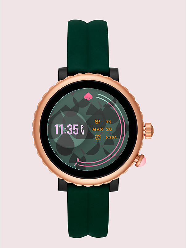 green silicone scallop sport smartwatch, , rr_large