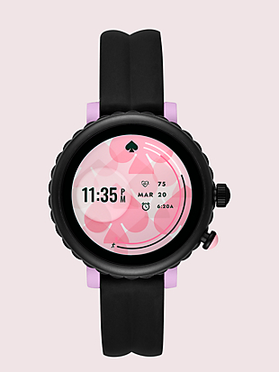 black silicone scallop sport smartwatch by kate spade new york non-hover view