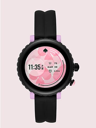 black silicone scallop sport smartwatch, , rr_productgrid
