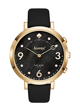 monterey hybrid smartwatch, black, medium
