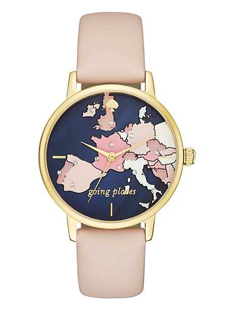 metro going places vachetta leather watch by kate spade new york