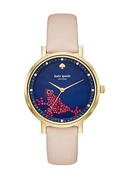 frog monterey  watch, vachetta/gold, medium