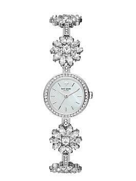 stainless daisy chain  watch, silver, medium