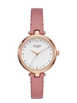 scallop holland watch, ROSE GOLD/DUSTY PEONY, medium