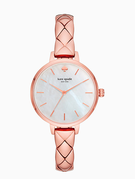 metro scallop rose gold-tone bracelet watch by kate spade new york