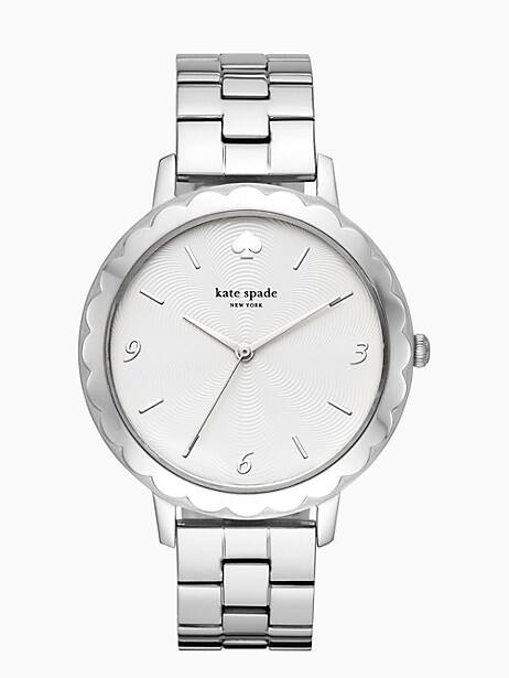 morningside scallop stainless steel bracelet watch by kate spade new york
