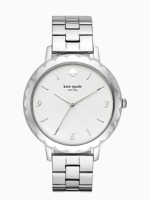 morningside scallop stainless steel bracelet watch by kate spade new york non-hover view