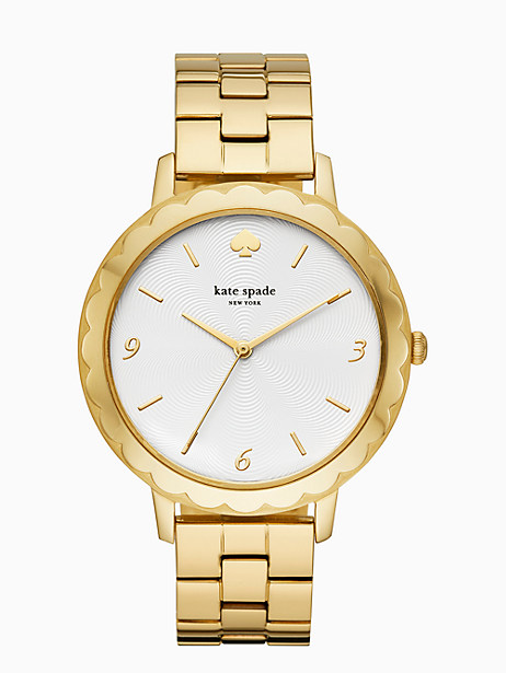morningside scallop gold-tone bracelet watch by kate spade new york