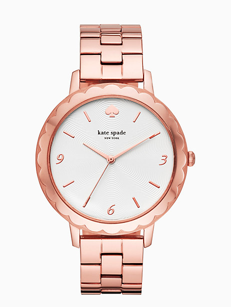 morningside  scallop rose gold-tone bracelet watch by kate spade new york