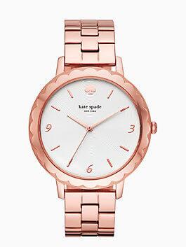 morningside  scallop rose gold-tone bracelet watch, soft rose, medium