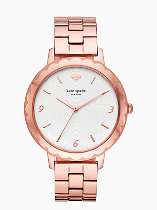 morningside  scallop rose gold-tone bracelet watch by kate spade new york non-hover view