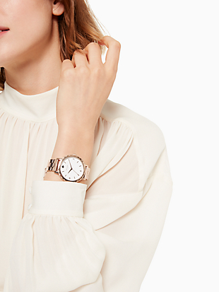 morningside  scallop rose gold-tone bracelet watch by kate spade new york hover view