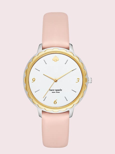morningside blush leather watch by kate spade new york