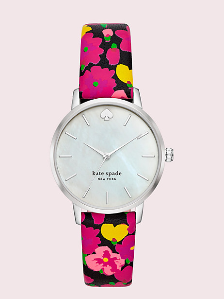 metro floral leather watch by kate spade new york