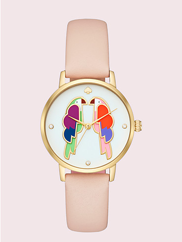 metro parrot blush leather watch , , rr_productgrid