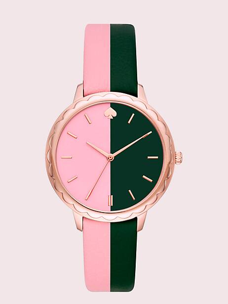 morningside scallop bicolor leather watch by kate spade new york