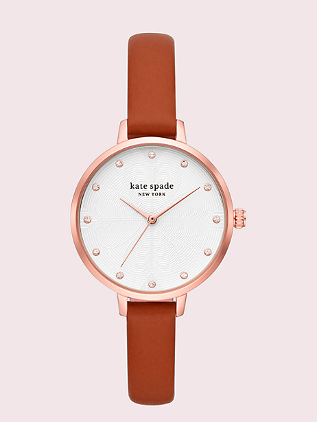 metro luggage leather watch by kate spade new york