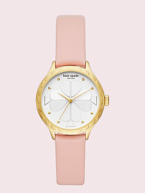 rosebank scallop blush leather watch by kate spade new york
