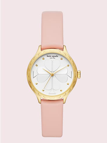 rosebank scallop blush leather watch, , rr_productgrid