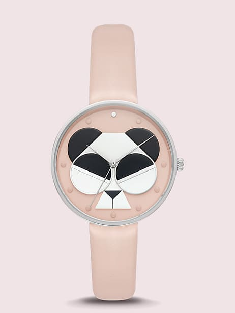 metro spademals gentle panda leather watch by kate spade new york