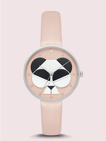 metro spademals gentle panda leather watch, , rr_productgrid