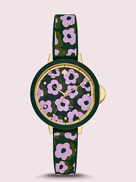park row flair flora silicone watch by kate spade new york