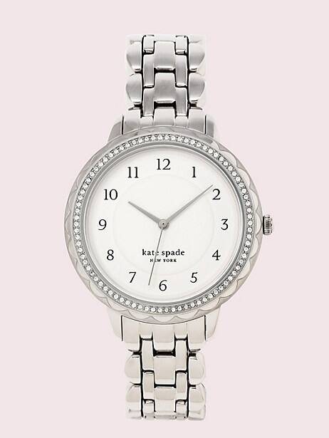 morningside scallop stainless steel watch by kate spade new york
