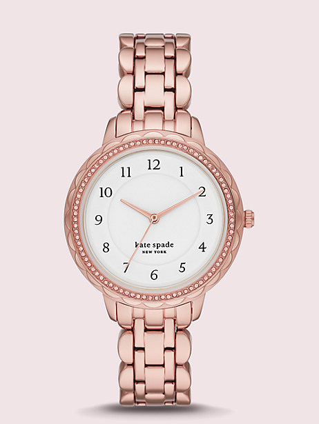 morningside scallop rose gold-tone stainless steel watch by kate spade new york