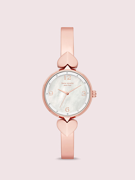 hollis rose gold-tone stainless steel bangle watch by kate spade new york