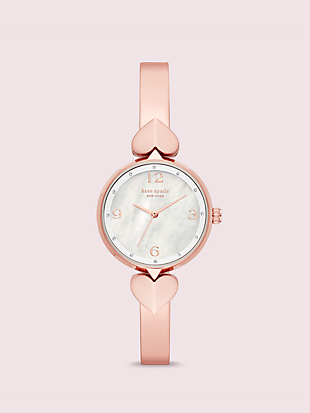 hollis rose gold-tone stainless steel bangle watch by kate spade new york non-hover view