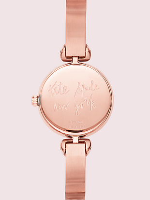 hollis red enamel stainless steel bangle watch by kate spade new york hover view