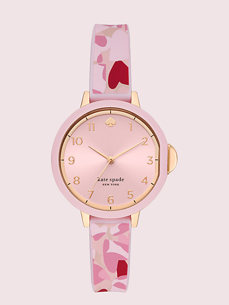 park row heart-print silicone watch by kate spade new york