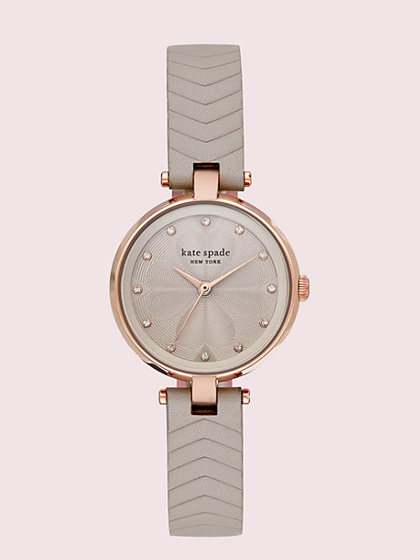 annadale grey leather watch by kate spade new york