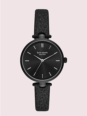 holland black glitter leather watch, , rr_productgrid