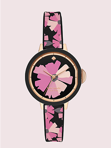 park row flower-print silicone watch, , rr_productgrid
