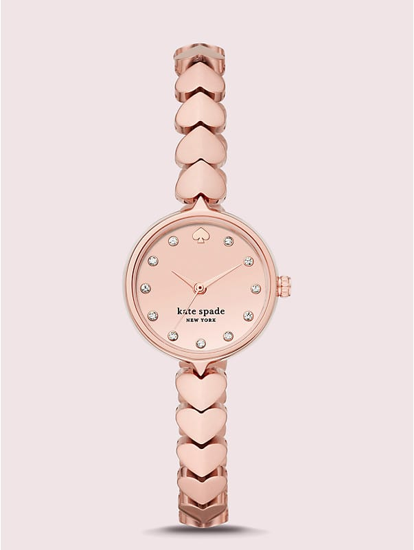hollis rose gold-tone stainless steel hearts watch, , rr_large