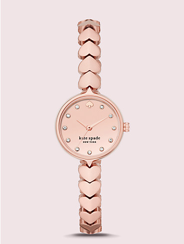 hollis rose gold-tone stainless steel hearts watch, , rr_productgrid
