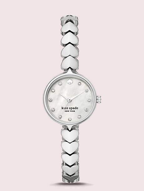 Kate Spade New York Hollis Stainless Steel Hearts Watch by kate spade new york