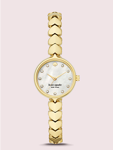 hollis gold-tone stainless steel hearts watch, , rr_productgrid