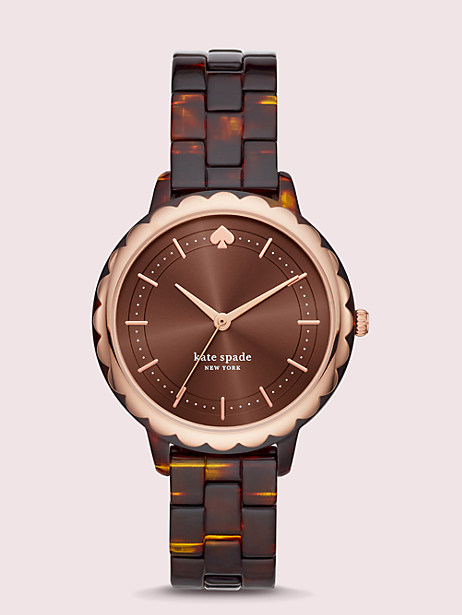 morningside tortoiseshell acetate watch by kate spade new york