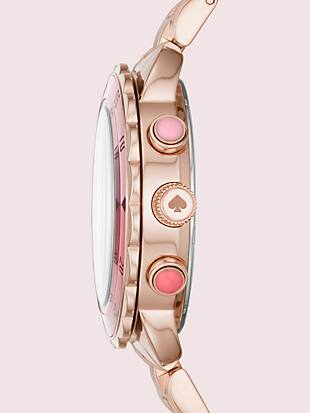 baywater dive-inspired rose gold-tone stainless steel watch by kate spade new york hover view