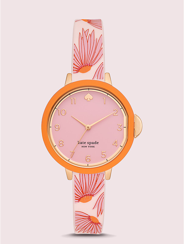 park row pink floral-print silicone watch, , rr_large