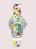 rainey park white & lilac floral reversible watch, , s7productThumbnail